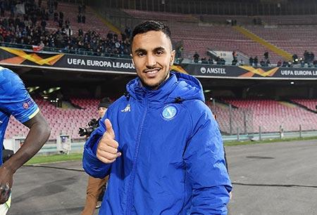 الجزائري أوناس لاعب نابولي الإيطالي