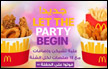 ماكدونالدز تـُطلق: 'Let the Party Begin'